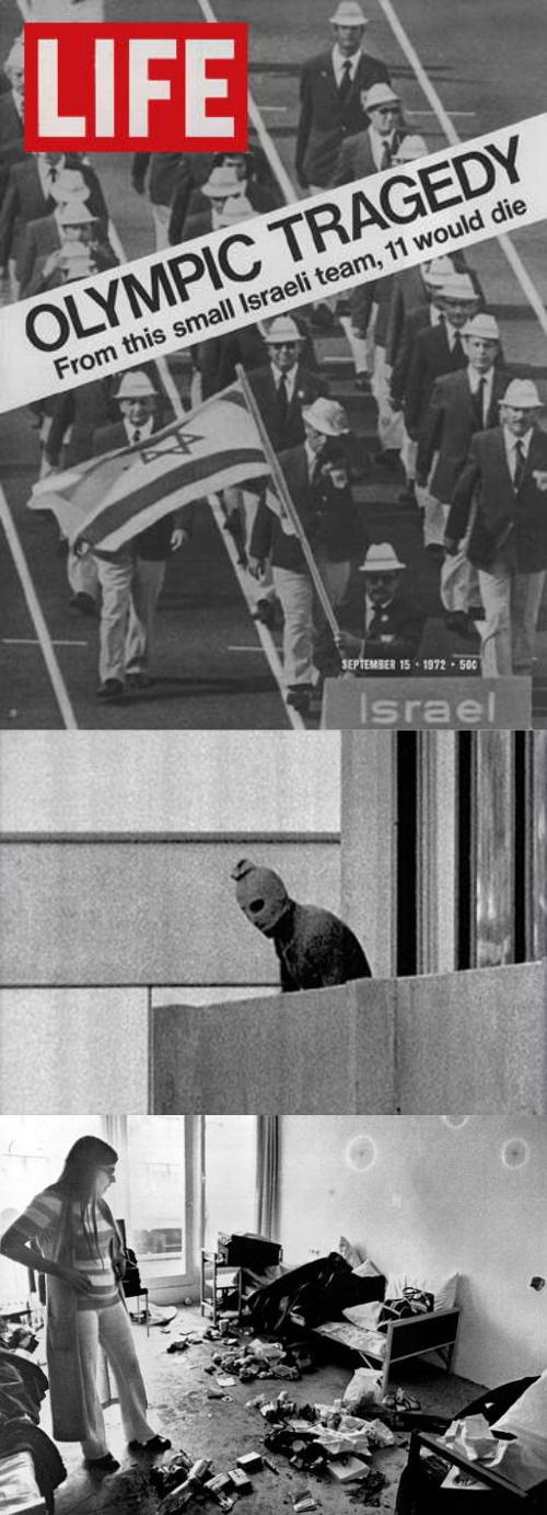 5-9-1972 Munich Massacre Palestinian. Terrorist group Black September broke into the Olympic Village taking 5 Israeli athletes & 6 coaches hostage. 2 Israelis were killed that night. They wanted 234 Israeli prisoners released. A standoff ensued, the terrorists were overwhelmed. But they killed all 9 hostages. Authorities killed 5 terrorists & arrested 3. They were released when other Black September members hijacked a plane threatening to blow it up unless the Munich terrorists were…