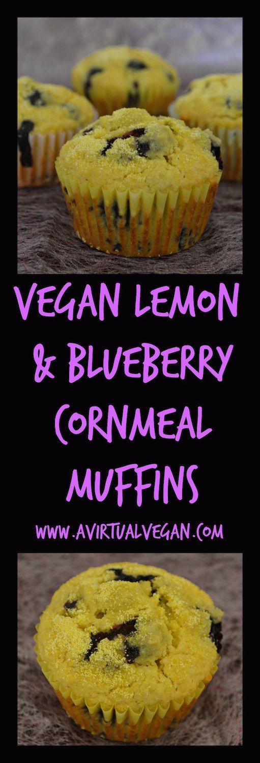 Lemon & Blueberry Cornmeal Muffins | Recipe | Blueberries, Muffins and ...