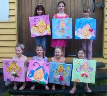 year old art party idea  Girls 9th Birthday Party  Maya Bday Party ...