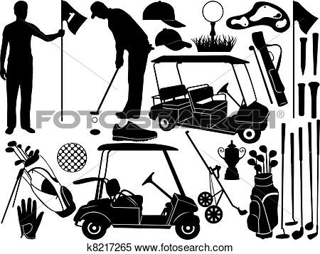 Golf set View Large Clip Art Graphic
