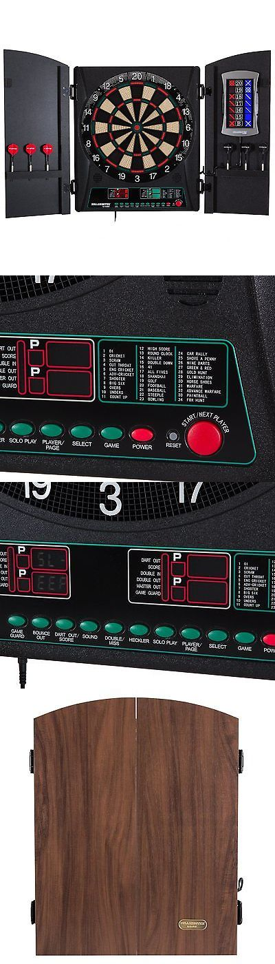Dart Boards 72576: Bullshooter By Arachnid Crickettmaxx 1.0 Electronic Dartboard  Cabinet Set BUY IT NOW