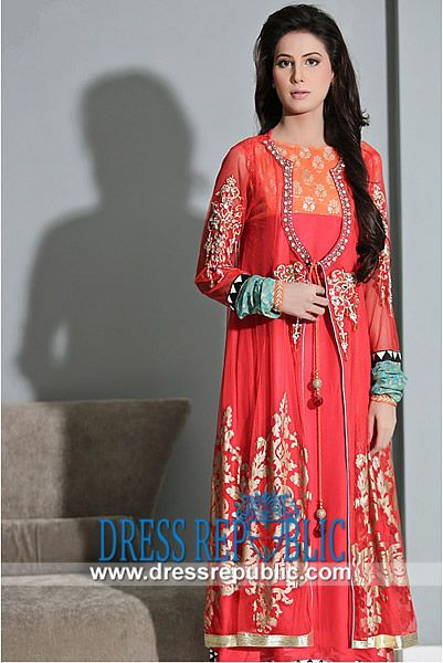 Maria B Latest Evening n Party Suits in Red Buy Online Pakistani