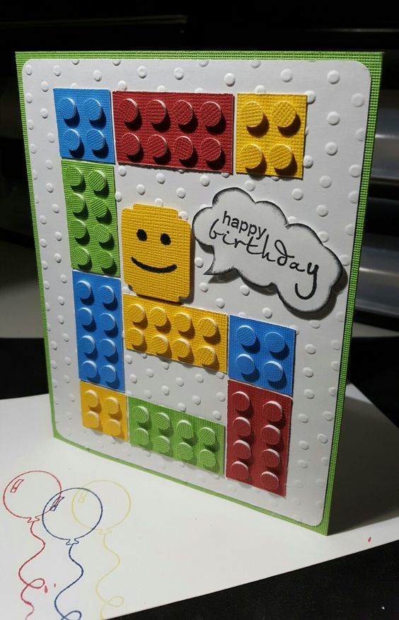 Lego Card For My 6 Year Old Grandson Old Birthday Cards Lego Card Lego Birthday Cards