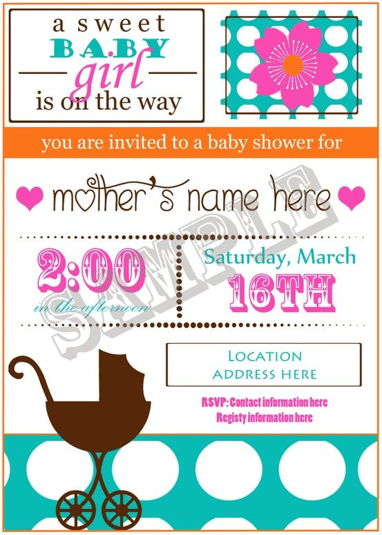 I have some super cute #babyshower invites w/ insert now on sale in my etsy shop. Please share if you know of anyone who may be interested. Thanks! Emily