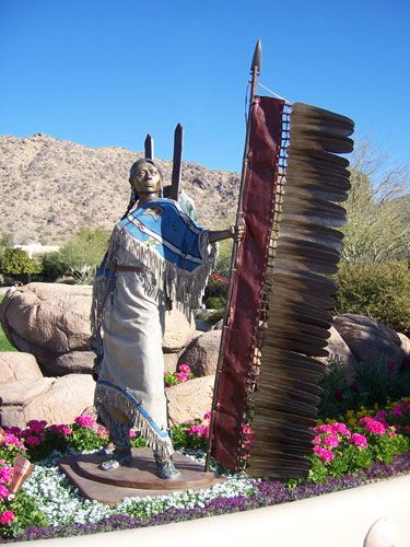 Stronghearts by Dave McGary Located at the Marriott Camelback Inn Spa/Resort in Paradise Valley, Arizona