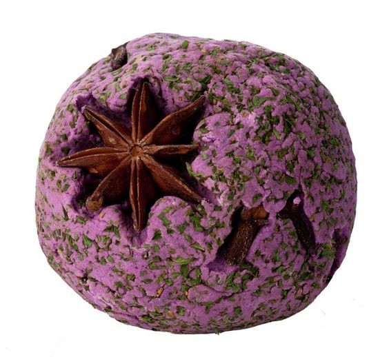Witches Ball Bubble Bar:A blend of herb and spice essential oils gives The Witches' Ball a crisp, Autumnal fragrance that's perfect at this time of year. Sage, myrrh, peppermint, rosemary, parsley and clove all combine for a bewitching bathtime experience.The Witches' Ball was first made for Christmas 2008, when we had a supernatural theme to the season. The herbs and spices here help to clear the mind and emotions, so it's perfect for those who like to do their thinking in the bath.