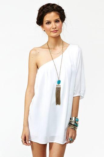 one sleeve summer dress