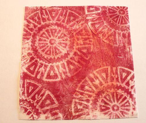 teinture à la gélatine 2 - gelli dyeing 2