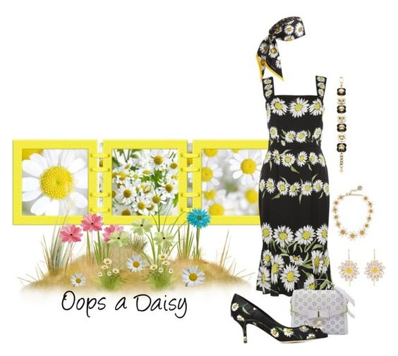 """""""Untitled #3820"""" by rkdk1101 ❤ liked on Polyvore featuring Orla Kiely, Marc Jacobs, Dolce&Gabbana, Alison Lou and Allstate Floral"""