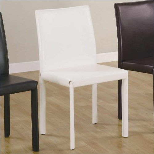 Benson Faux Leather Parson Chair Set Of 4 Finish White Side