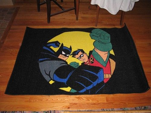 Attractive Batman Robin Area Rug Mint Condition Listing 2851 G Man
