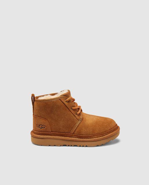 Botas de niños UGG marrón con cierre de cordones | Botas de