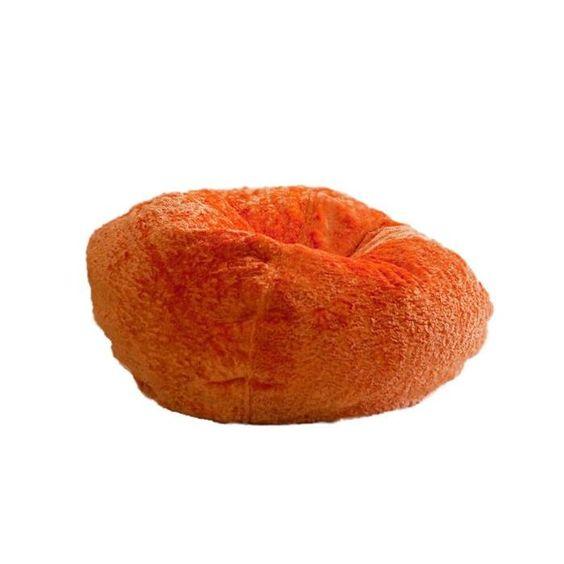Chenille Bean Bag In Tangerine