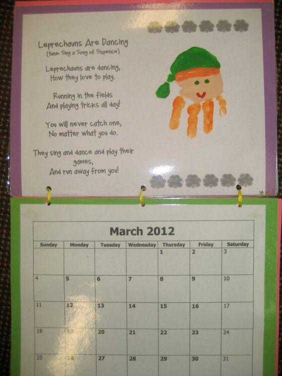 Monthly Calendar Rhyme : Handprint poem it s a preschool party