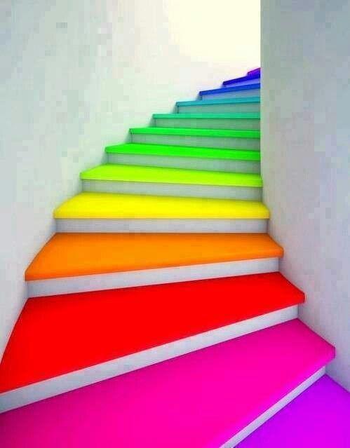 Regenbogen-Treppe