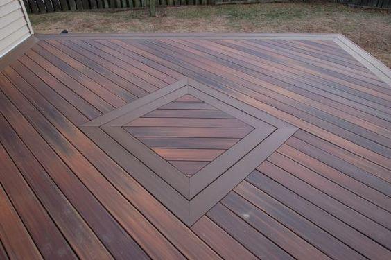Composite decking decks and brown on pinterest for Fiberon horizon ipe decking