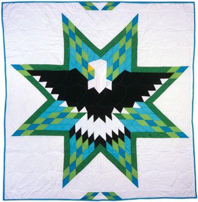 Dancing Eagles Star Quilt Pattern Black Eagle Star Quilt