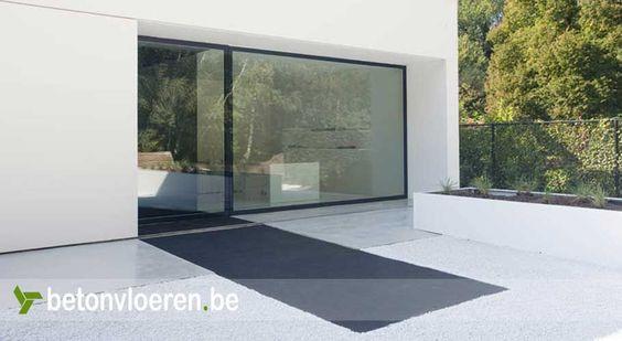 Witte Keuken Betonvloer : witte-betonvloer-terras-3 Gardens Pinterest ...