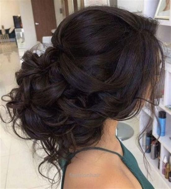 Nice Classic Loose Curly Low Updo Wedding Hairstyle Featured Hairstyle Elstyle The Post Classic Loose Curly Long Hair Styles Loose Curls Updo Hair Styles