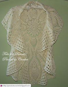 * Pearls Crochet: crochet vest - Model circular.