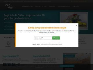 En France, CADvision est le revendeur agréé des imprimantes Stratasys et des logiciels CAO adaptés (Solidworks, Altium, etc.).