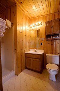 Deluxed cabin bathroom