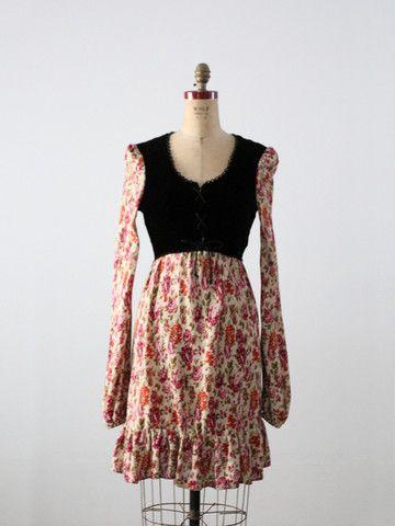 vintage 70s floral dress - 86 Vintage