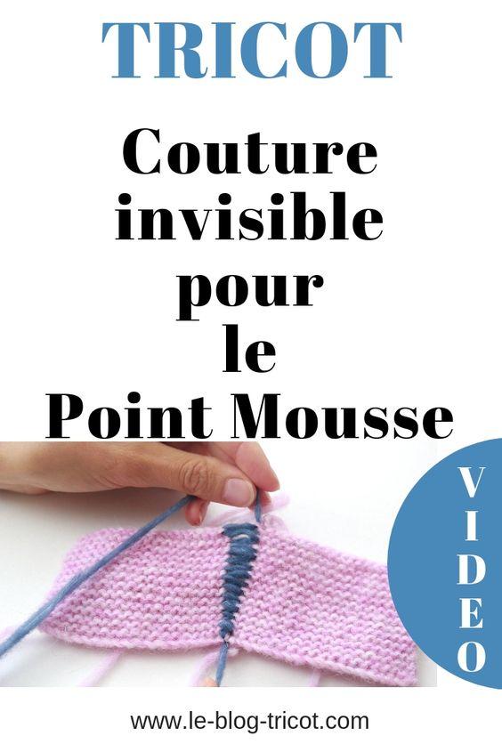 Finitions Parfaites Pour Un Tricot Au Point Mousse Vous Apprendrez A Coudre Le Point Mousse De Ma Tuto Couture Invisible Tricot Point Mousse Assemblage Tricot