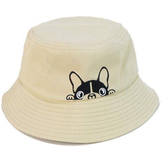 Bulldog Embroidery Hat Bucket Hat Fisherman Hat Summer Cap Beach Hat Summer Hat Light Khaki C818 Summer Hats Fisherman Hat Summer Cap