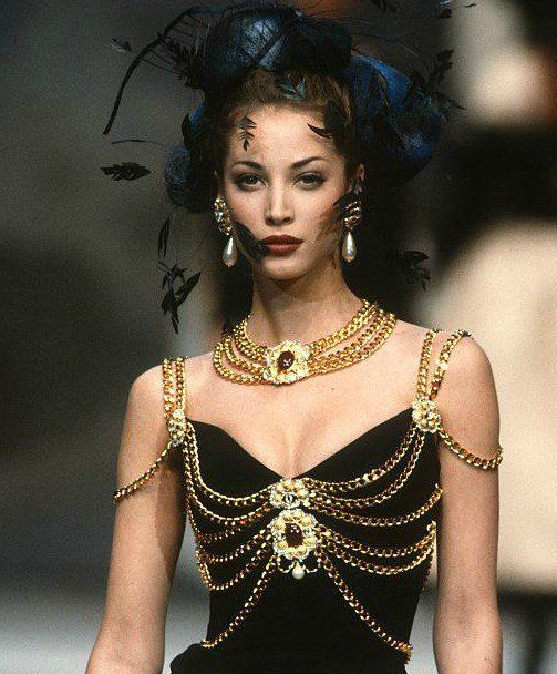 Christy Turlington at Chanel Spring 1992