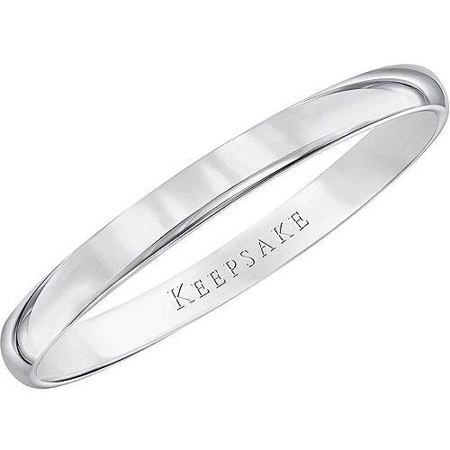 Keepsake 10kt White Gold Wedding Band, 2mm: Rings : Walmart.com