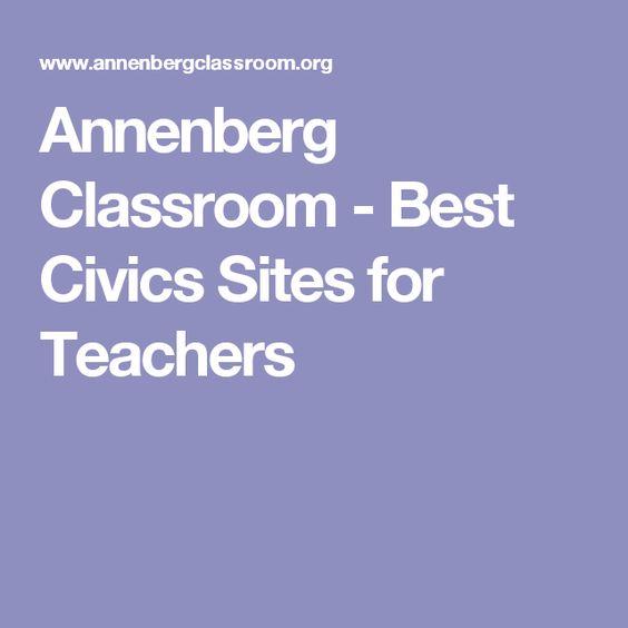 Annenberg Classroom - Best Civics Sites for Teachers