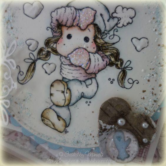 In The Snow Heart Tilda honeybeespaperie.blogspot.com
