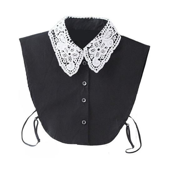1X Women/'s Detachable False Collar Elegant Cotton Fake Dickey Blouse Half Shirt