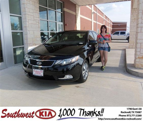 #HappyAnniversary to Laura Frantz on your 2013 #Kia #Forte from Larry Upton at Southwest KIA Rockwall!