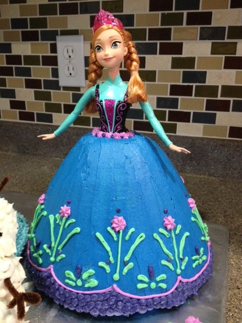 elsa fondant | Frosted with Buttercream Frosting
