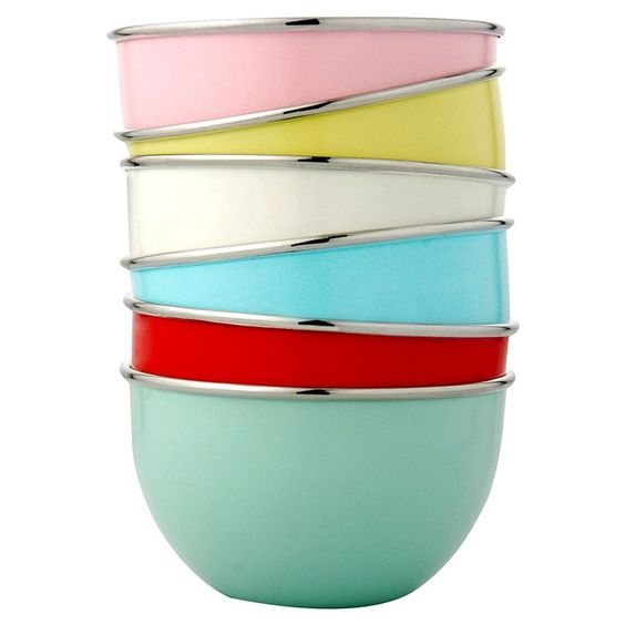 fun-colored mixing bowls