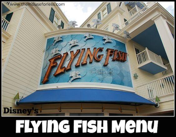 Flying fish caf menu disney dining menu and walt for Flying fish disney menu