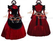 Siervo New Victorian Edad gótica Partido Cos Lolita vestido Guerra bola del partido de hadas Vivil Vintage muchacha de la danza del vestido del traje Criada(China (Mainland))