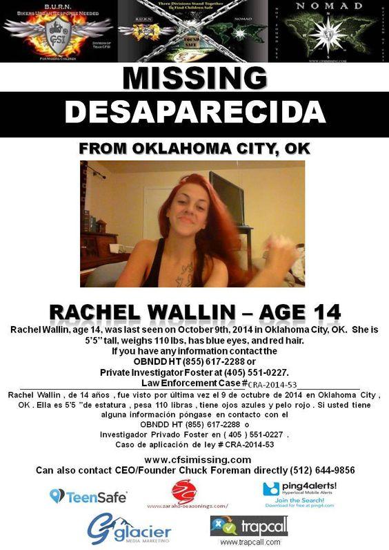 FOUND SAFE ! 10/9/2014: Rachel Wallin, Age 14, Is #missing