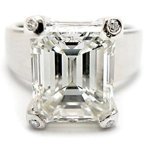 Emerald Cut Engagement Ring Diamond And Sapphire 36