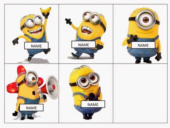Minion Mayhem: Free editable name tags