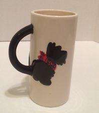 Scottish Terrier Scotty Scottie Dog Ceramic Mug Red Plaid Bandana MSRF Inc