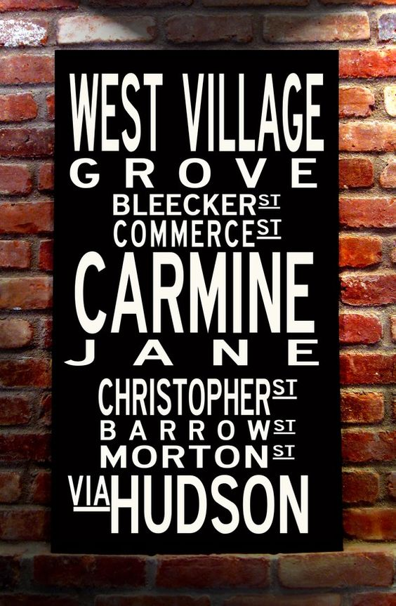 WEST VILLAGE, Vintage-inspired Destination Wall Art, Gallery-Wrapped Canvas…