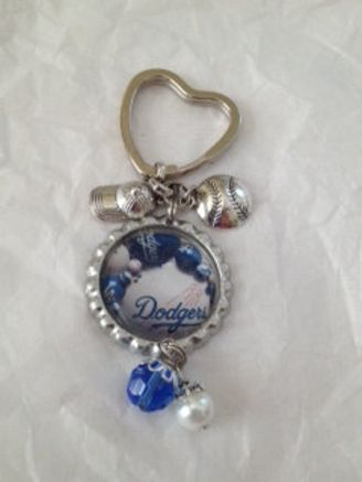 Los Angeles Dodgers Inspired Key Chain #dodgers #keychain #pretty