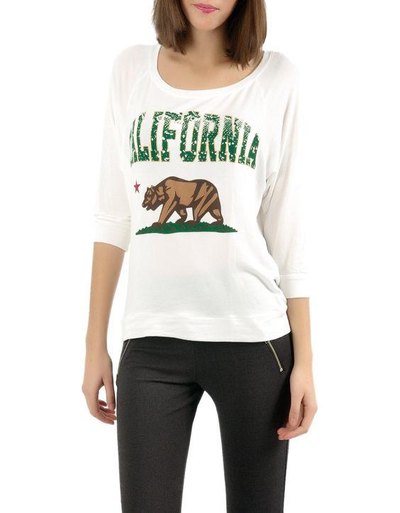Camiseta manga 3/4 punto estampado California-Shana