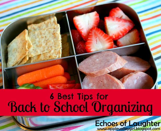 These are great!!  Echoes of Laughter: 6 Best Organizing Tips for Back To School... I'm feelin so inefficient.