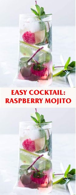 EASY COCKTAIL: RASPBERRY MOJITO
