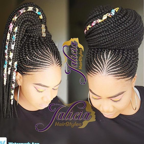 Gone are the days when cornrow hairstyles were rocked by older women and a few section of ladies but today it has become one of the most popular braided hairstyles but not only because it is easy to handle, but because it can be done in different amazing styles. From braided, to twisted, to big … #AfroHairstylesDiy