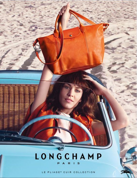 Longchamp Orange Cuir